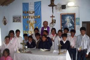 Primera Comunion de niños de San José de Chaquivil