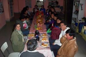 Reunión en la escuela de San José de Chaquivil