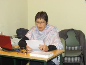 Alejandra Elbaba, responsable del dictado