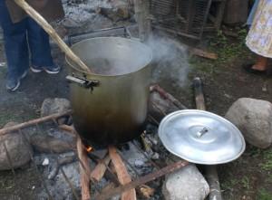 Cocinando para todos los invitados